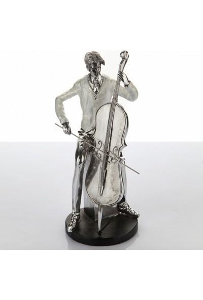 White & Begie Biblo Musician Cello 15 x 13 x 32 cm Nq 307