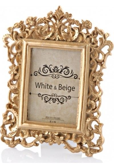 White & Begie Destina Altın Fotoğraf Çerçevesi 6 x 9 Nr-0 x 17