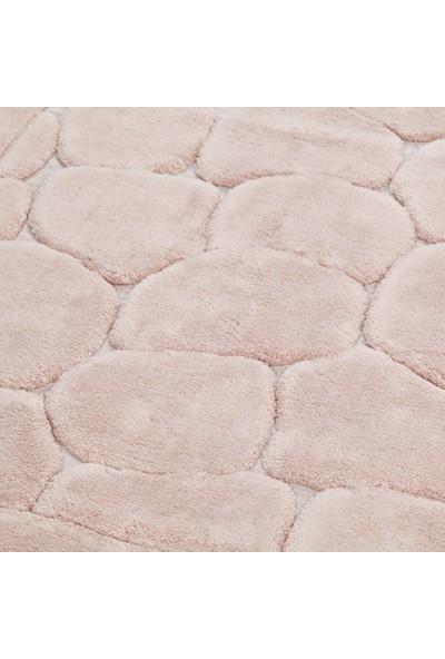 White & Begie Stone Banyo Paspası 60 x 100+50 x 60-Pudra