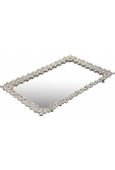 White & Begie Vanity Taşlı Tepsi 43,2 x 31,3 - Tps224-34