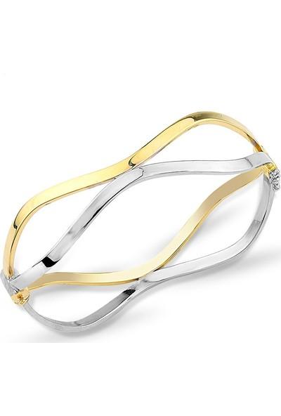 Bilezikci İnsta Taşsız 14 Ayar Altın Kelepçe Bilezik