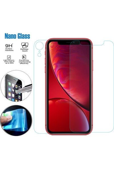 Caseup Apple iPhone XR Ultra İnce Ön + Arka Nano Cam