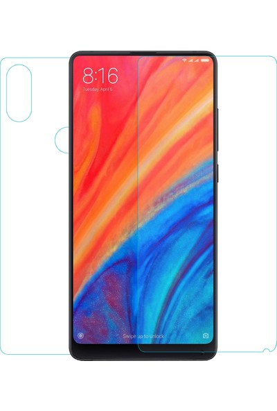 Caseup Xiaomi Mi Mix 2S Ultra İnce Ön + Arka Nano Cam