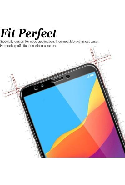 Microsonic Huawei Y5 2018 Tam Kaplayan Temperli Cam Ekran Koruyucu Siyah