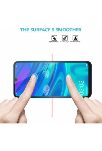 Microsonic Huawei Honor 10 Lite Tam Kaplayan Temperli Cam Ekran Koruyucu Siyah