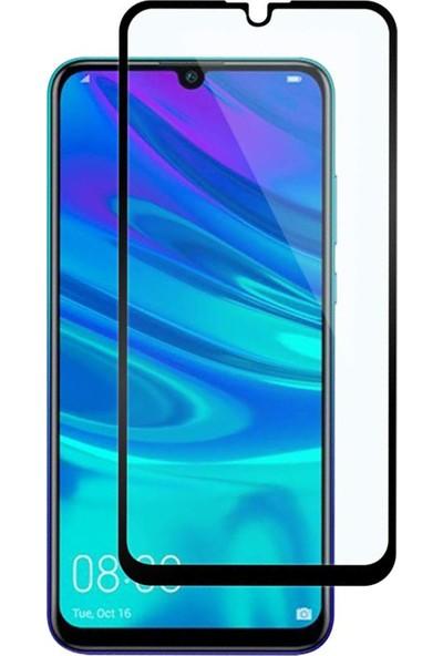 Microsonic Huawei Y7 Prime 2019 Tam Kaplayan Temperli Cam Ekran Koruyucu Siyah