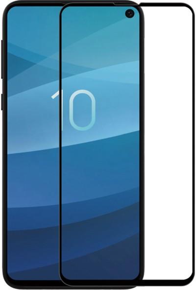 Microsonic Samsung Galaxy S10E Tam Kaplayan Temperli Cam Ekran Koruyucu Siyah