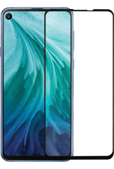 Microsonic Samsung Galaxy A8S Tam Kaplayan Temperli Cam Ekran Koruyucu Siyah
