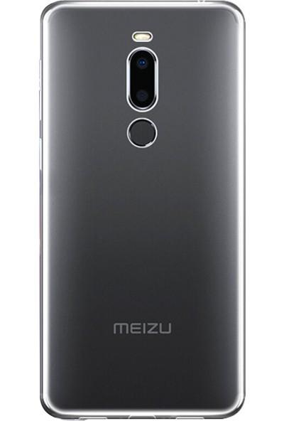 Microsonic Meizu X8 Kılıf Transparent Soft Beyaz