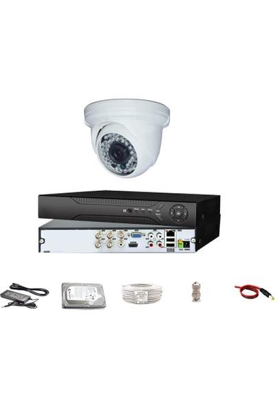 QROMAX PRO-D136B 1'li 3 MegaPiksel SONY LENS 720P Aptina Sensör Güvenlik Kamerası Seti