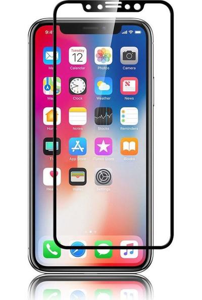 Kılıfreyonum Apple iPhone Xs Max Kavisli 5D Koruyucu Cam Siyah