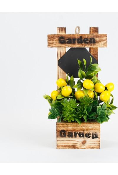 Bappay Dekoratif Ev Dekoru Lemonlent Yapay Çiçekli Süsleme Askılı Dekor