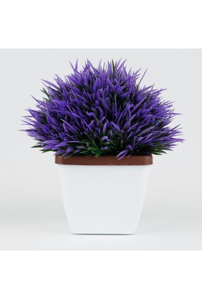 Bappay Mini Saksıda Dikenli Dekoratif Yapay Çiçek
