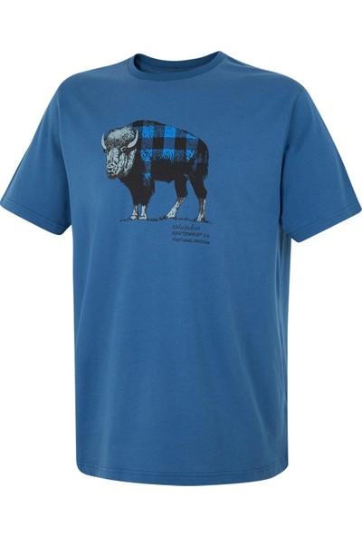 Columbia Check The Buffalo Ss Tee Tişört Mavi