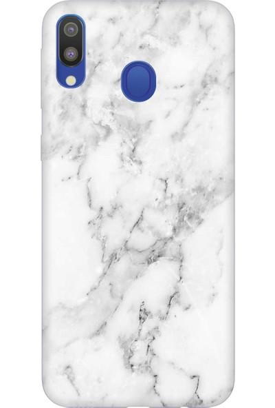 Cekuonline Samsung Galaxy A20 Desenli Esnek Silikon Telefon Kapak Kılıf - Mermer Stil