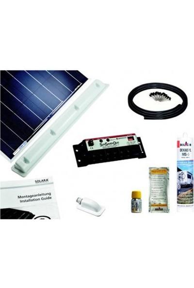 Solara 100WP Premium Sistem Paketi Montaj Ekipmanlar Dahil