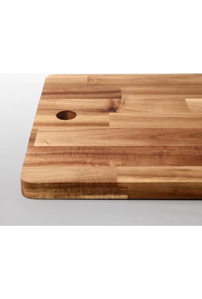 Ikea Smaata Masi̇f Ahşap Akasya Kesme Tahtası Büyük Boy - 28 x 72 cm