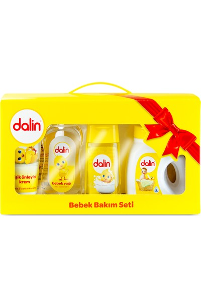 Dalin Gift Set Çantalı Bebek Bakım Seti 6 Ürünlü