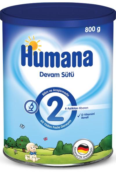 Humana 2 Metal Kutulu Devam Sütü 800 gr