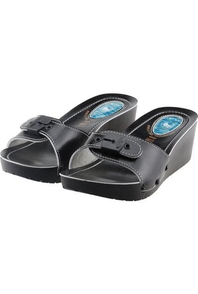 Ceyo 9969-1 Günlük 5,5 cm Topuk Jelli Kadın Terlik Siyah