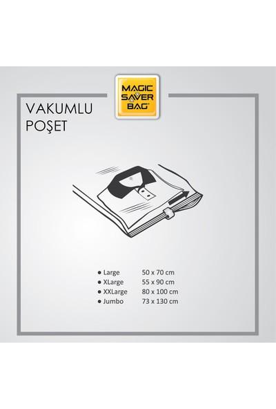 Magic Saver Bag Büyük Boy Vakumlu Hurç Yorgan Hurcu Vakumlu Hurc Poşet Saklama Torbası 55 x 90CM