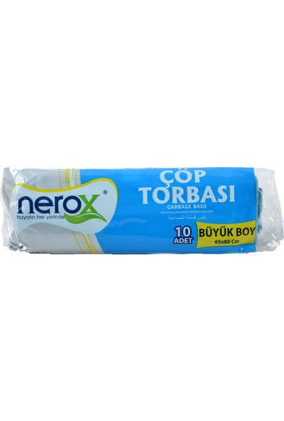 Nerox Çöp Torbası Büyük Boy 65X80 Cm. Mavi (1 Koli)=(50 Rulo Paket)