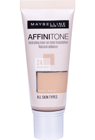 Maybelline New York Affinitone Fondöten - 24 Golden Beige