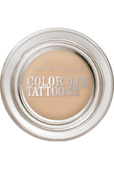 Maybelline New York Color Tattoo 24H Mat Göz Farı - 93 Creme De Nude - Açık Bej