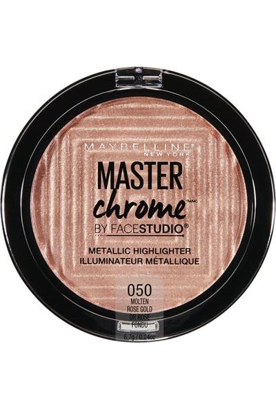 Maybelline New York Master Chrome Metalik Aydınlatıcı Pudra - 050 Molten Rose Gold