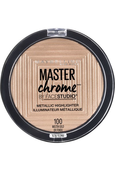 Maybelline New York Master Chrome Metalik Aydınlatıcı Pudra - 100 Molten Gold