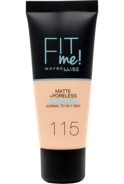 Maybelline New York Fit Me Matte+Poreless Fondöten - 115 Ivory
