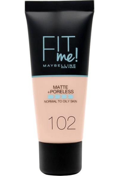 Maybelline New York Fit Me Matte+Poreless Fondöten - 102 Fair Ivory