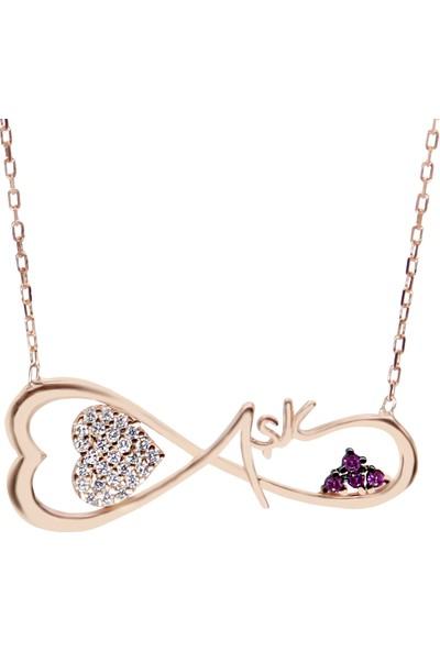 Minamis Silver 925 Ayar Gümüş Sonsuz Aşk Kolyesi Gümüş Kolye