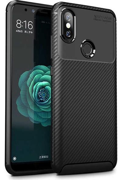 Engo Xiaomi Mi 8 Kılıf Karbon Fiber Tasarımlı Negro Elite Beetle Series Case