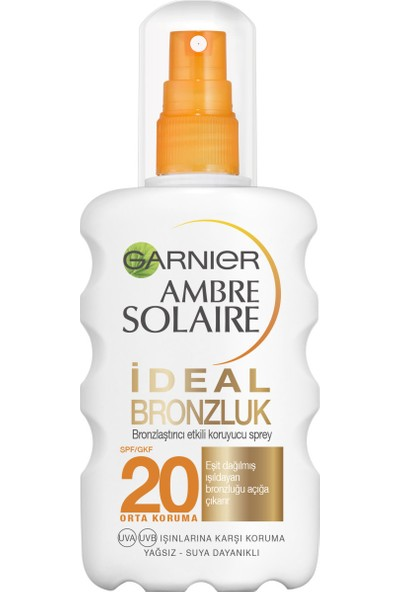 Garnier Ambre Solaire İdeal Bronzluk Sprey GKF20 200ML