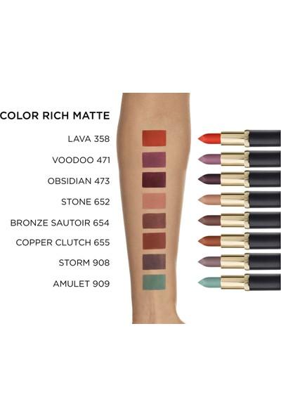 L'Oréal Paris Color Riche Matte Addiction Ruj 909 Amulet - Yeşil