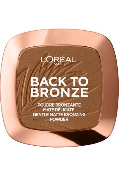 L'Oréal Paris Back To Bronze Mat Bronzlaştırıcı Pudra