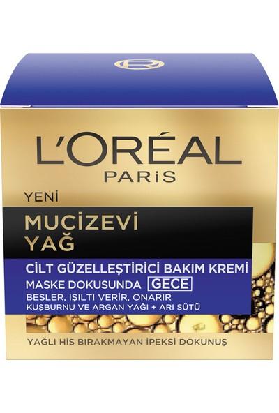 L'Oréal Paris Mucizevi Yağ Cilt Güzelleştirici Gece Bakım Kremi 50 ml