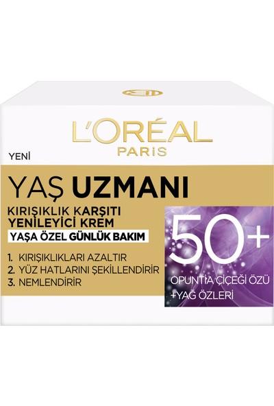 L'Oréal Paris Yaş Uzmanı 50+ Kırışıklık Karşıtı Yenileyici Krem