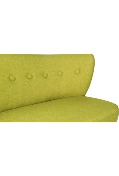 Ze10 Design Bienville Loveseat İkili Kanape Fıstık Yeşili