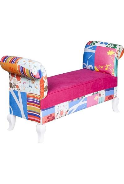 3A Mobilya Pink Patchwork Markiz - Desen