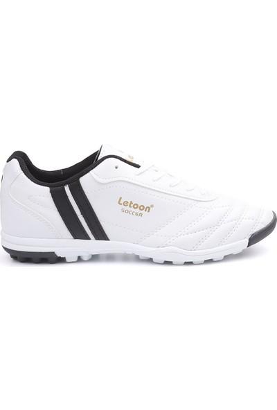 Letoon Beyaz 134 Erkek Halı Saha Ayakkabısı