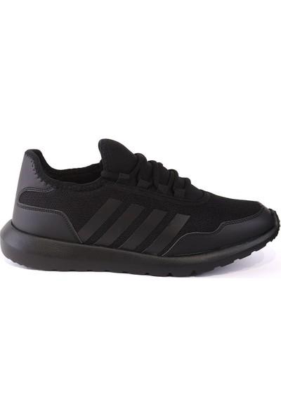 Letoon Siyah-Siyah Brezılya 6022 Erkek Spor Ayakkabı