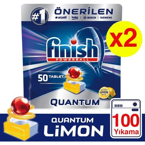 Finish Quantum 100 Tablet Bulaşık Makinesi Deterjanı Limon (50x2)