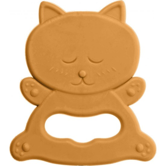 Bambino Kauçuk Yumuşak Diş Kaşıyıcı Turuncu Kedi