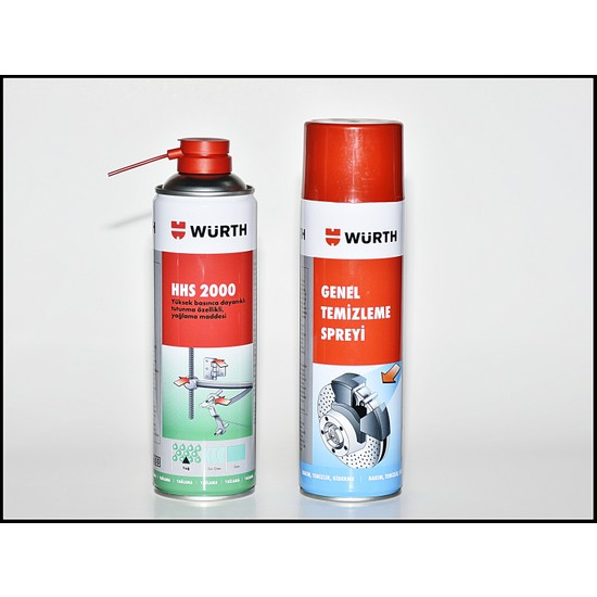 Würth Hhs 2000 Sıvı Gres 500 ml + Würth Balata Ve Genel Temizleme Sprey 500 ml 2'İ Set
