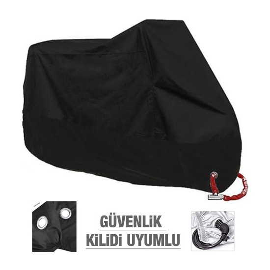 Autoen Premium Kanuni Windys 150 Lx Arka Çanta Uyumlu Motosiklet Brandası Siyah