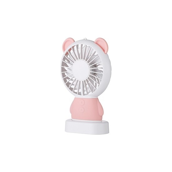 Maimı Damo Bear Mini Taşınabilir Fan - Pembe
