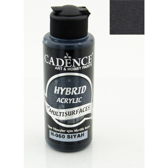 Cadence Hybrid Akrilik Multisurface Boya 120 Ml Siyah