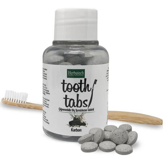 Herbatech Çiğnenebilir Diş Temizleme Tableti (Karbon) 90 Tablet